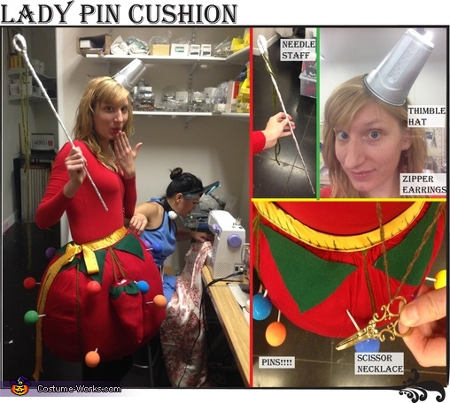 Detailed view, Lady Pin Cushion Costume
