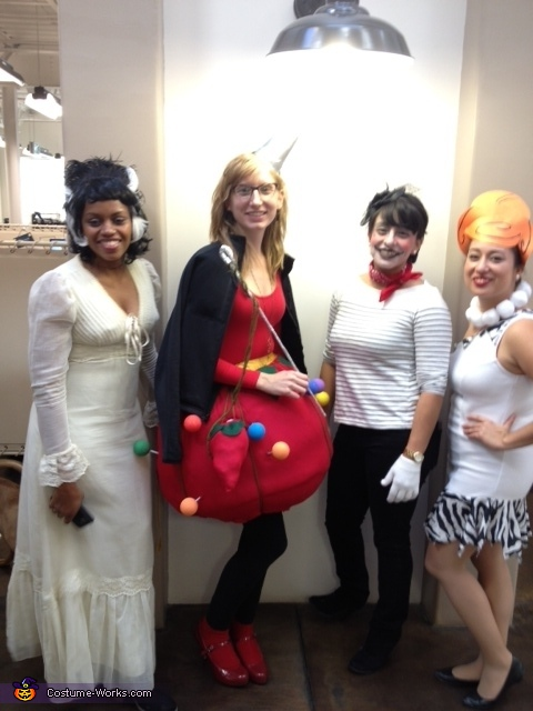 Me with some of the other office ladies, Lady Pin Cushion Costume