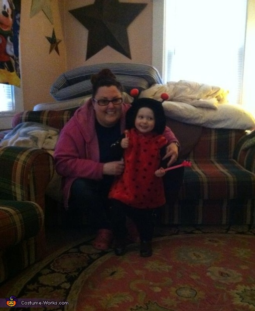her and her aunt on halloween, Ladybug Baby Costume