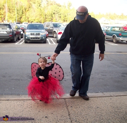 Ready for Trick or Treat at the mall, Ladybug Baby Costume