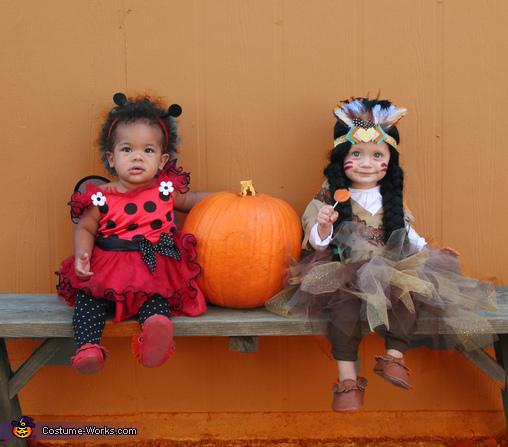 Ladybug and Indian Princess Costumes