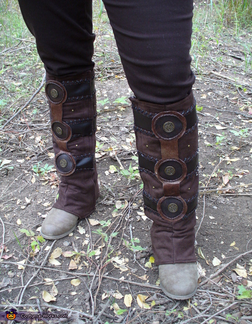 boot details, Lagertha, Viking Shield Maiden Costume