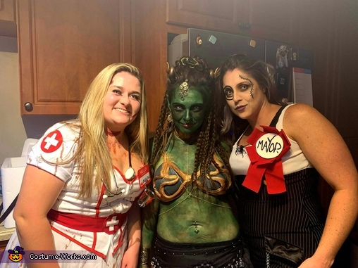 With my sister and a friend!, Lauren the Djinn Costume