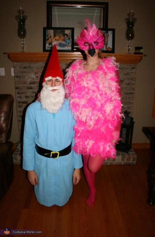 Lawn Ornaments Flamingo And Garden Gnome Couple