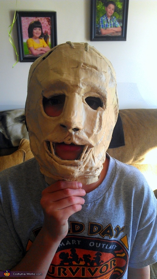 The Mold Before Paper Mache, Leatherface Costume