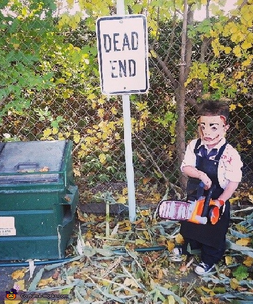 Do not end up alone down this street, Leatherface's Son Costume