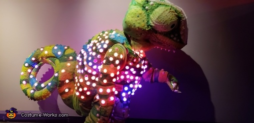 LED Color Sensing Chameleon Homemade Costume