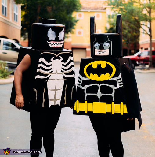 Lego Batman and Lego Venom Costume