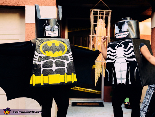 Ready for action!!, Lego Batman and Lego Venom Costume