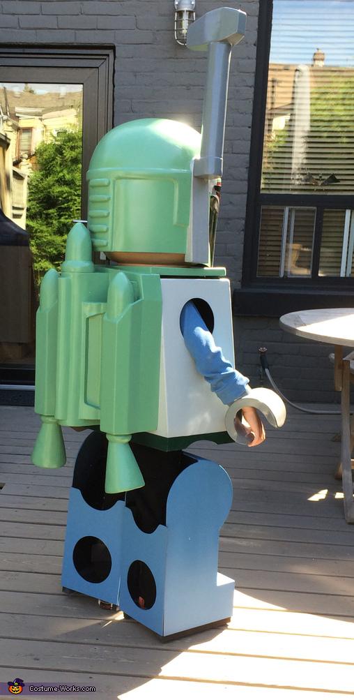 Full back view, Lego Boba Fett Costume