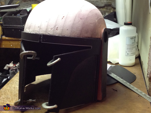 Constructing the helmet, Lego Boba Fett Costume