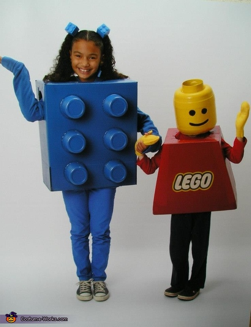 Lego Boy & Brick Costume