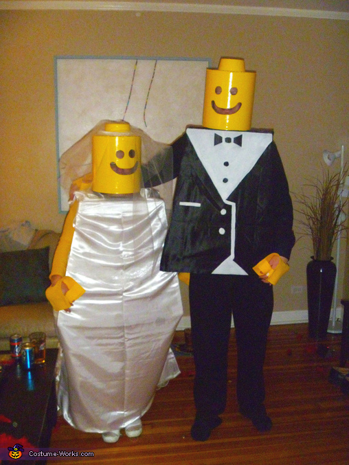 Lego Bride and Groom - Homemade costumes for couples