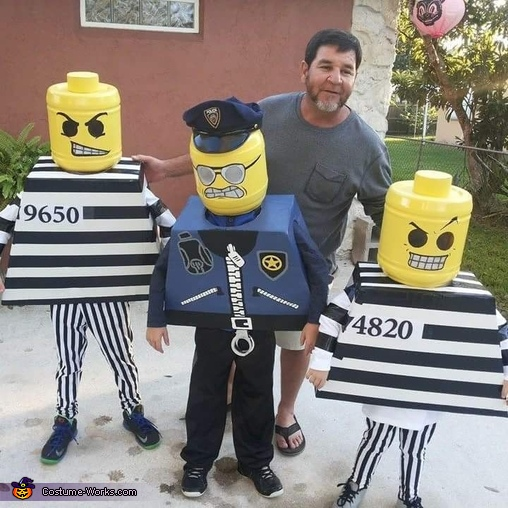 Lego Cop and Robbers Costume