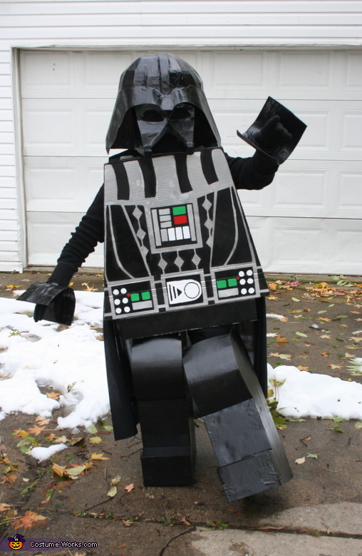 homemade lego darth vader costume. Black Bedroom Furniture Sets. Home Design Ideas