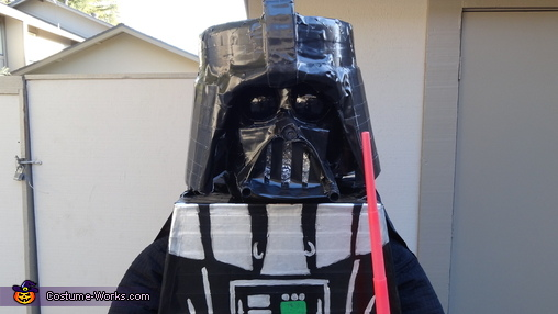 Close-up of Darth Vader costume, Lego Darth Vader Costume