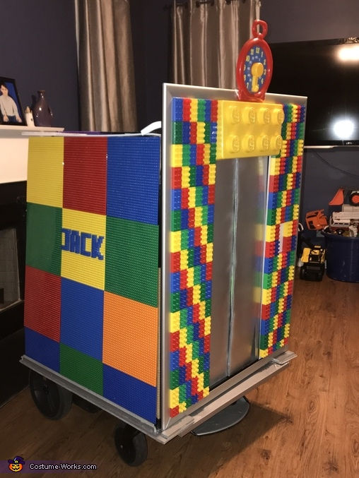 Side view, Lego Elevator Costume