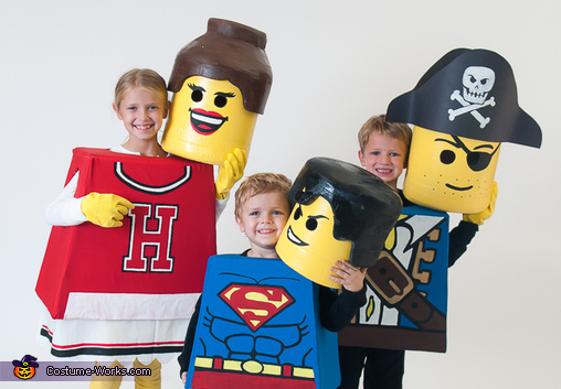 Lego Family Homemade Costumes