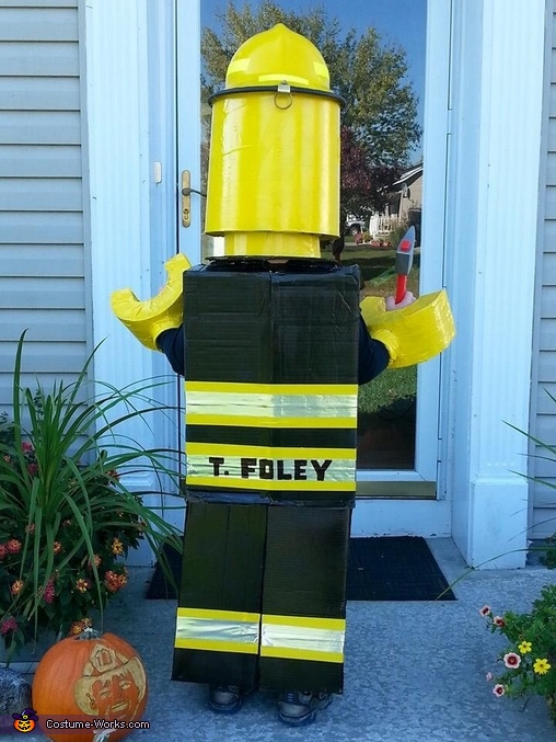 Lego Firefighter Homemade Costume