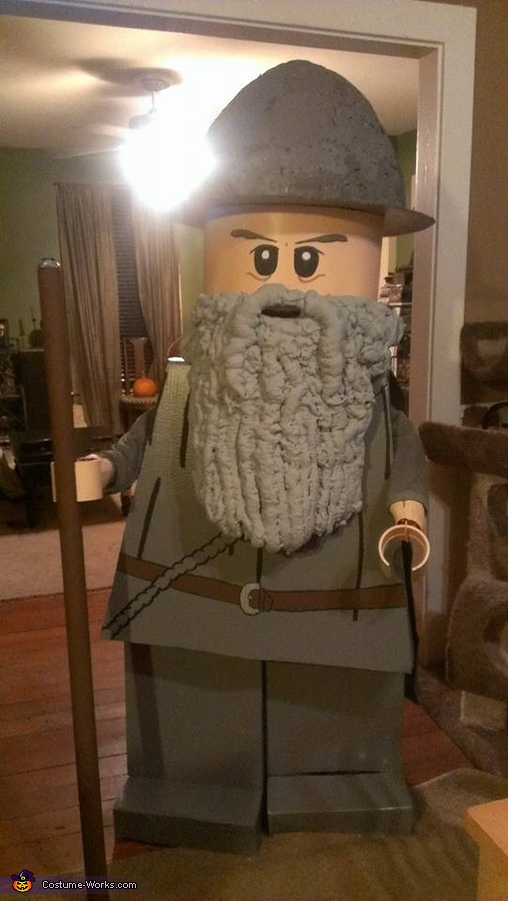 Just after we finished!, Lego Gandalf Costume
