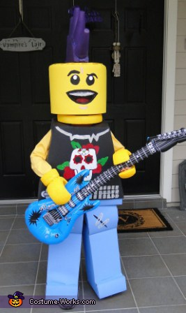 Lego Guitar Man - Homemade costumes for boys