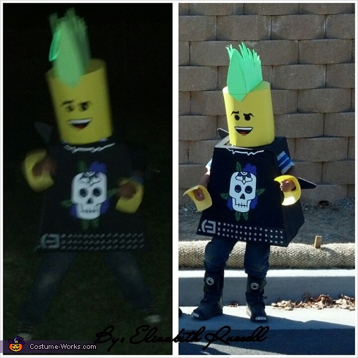 Punk Rock Lego Rocking out!!, Lego Guys Costume