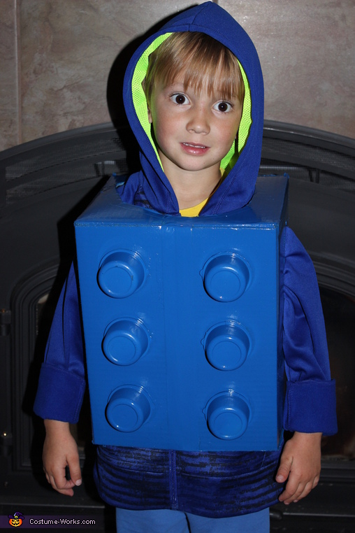 Lego Kid Homemade Costume