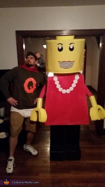 Hubby took the easy road, again..., Lego Lady Costume