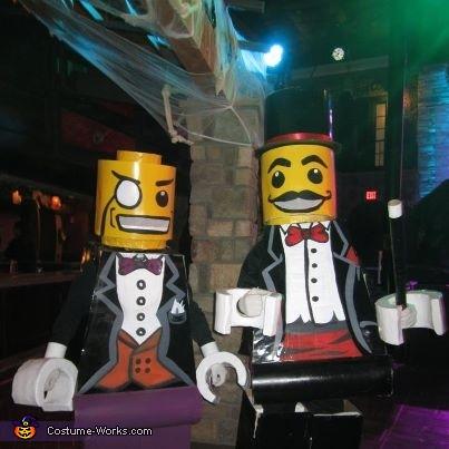 Lego Man Costumes - Lego Magician and Lego Sir