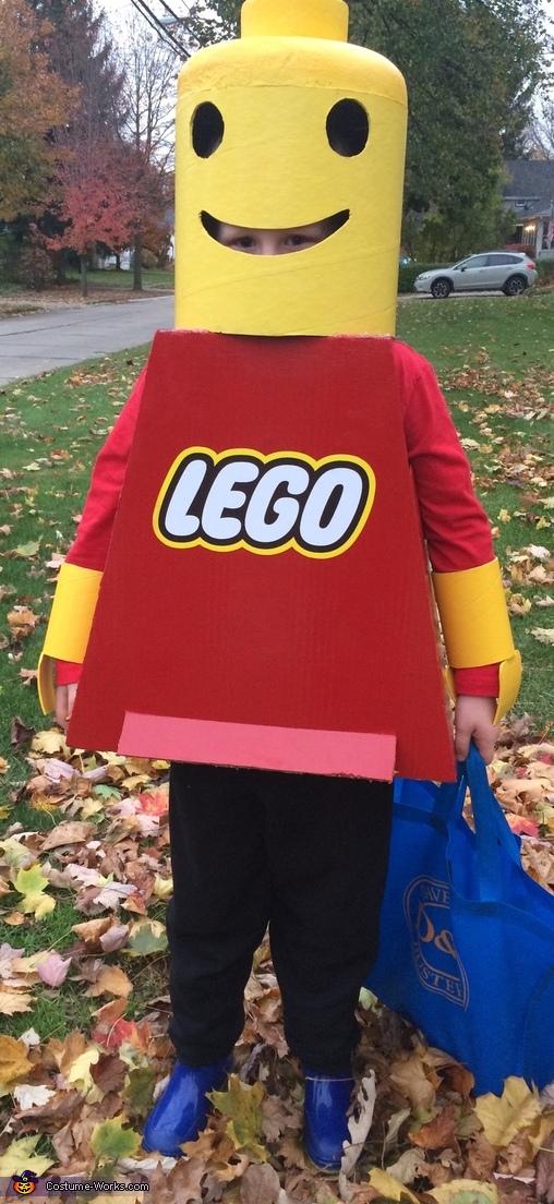Lego Man Homemade Costume