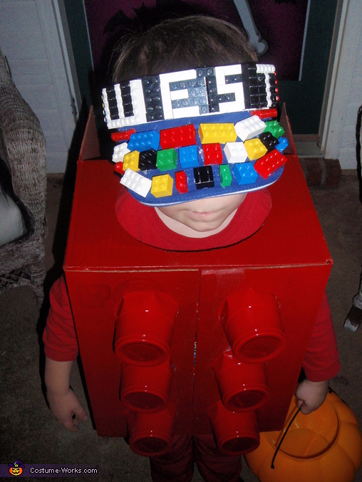 Close up of the hat., Lego Man Costume