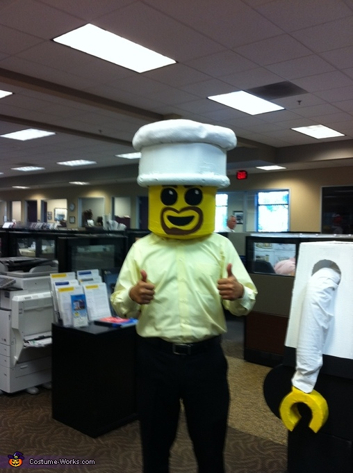 Lego Helmet - It fits!, Lego Man Chef Costume