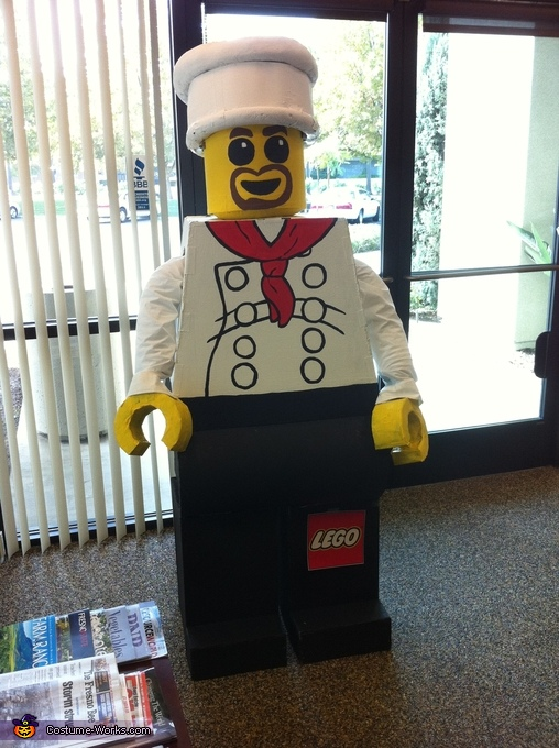 Lego man photo-op, Lego Man Chef Costume