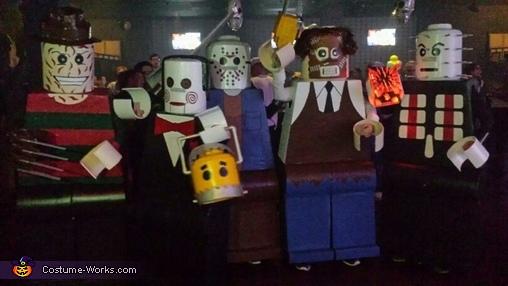 Amazing Lego Men Horror Villians Costume