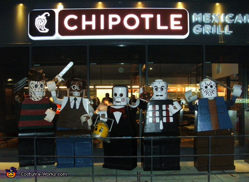 Grabbing Dinner!, Amazing Lego Men Horror Villians Costume