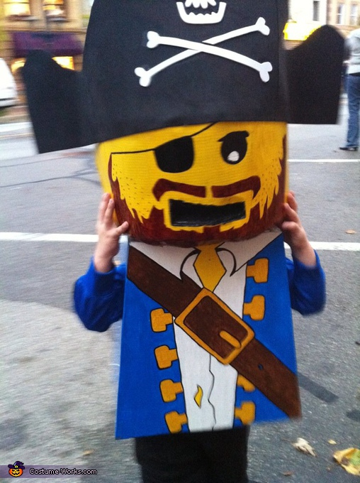 Homemade Lego Pirate Costume