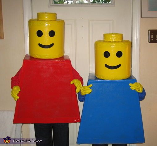 Lego Mini Figures Costume & Lego Mini Figures Homemade Halloween Costumes