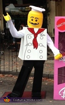 We still use the costume for street festivals in our area!, Lego Minifigure Chef Costume
