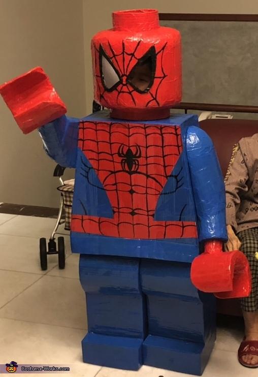 Lego Minifigure Spiderman Costume Photo 25