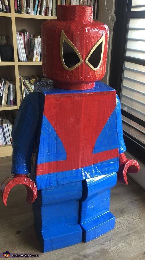 Lego Minifigure Spiderman Homemade Costume