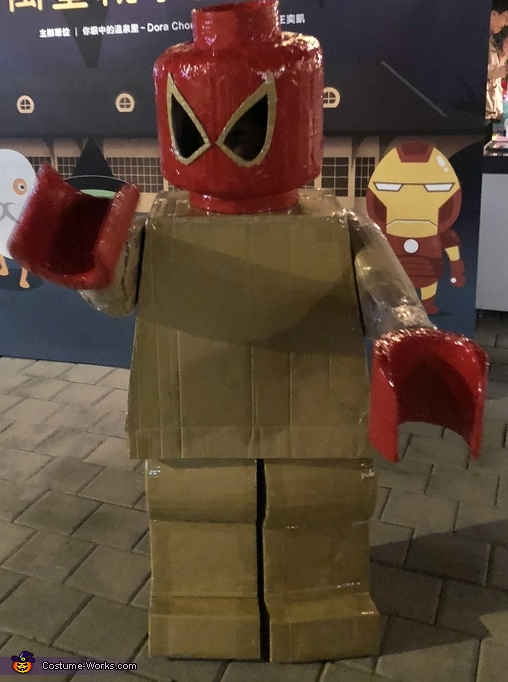 Lego Minifigure Spiderman Homemade Costume