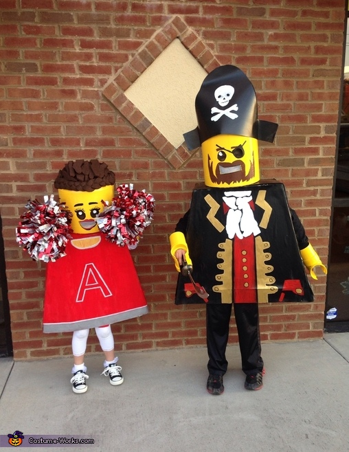 Lego Pirate and Cheerleader Costume