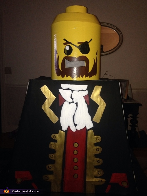 Without the hat, Lego Pirate and Cheerleader Costume