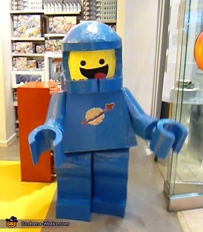Benny shopping for spaceships at the Lego store., Lego Movie Benny Costume