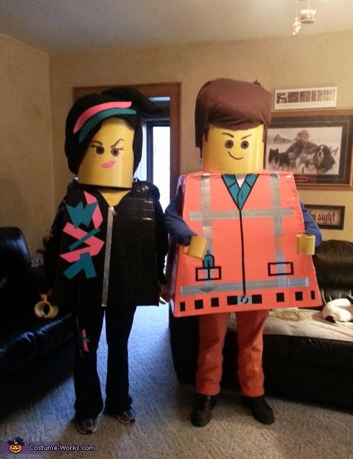 Lego Movie Emmet u0026 Wyldstyle Costume & Lego Movie Emmet u0026 Wyldstyle Costumes