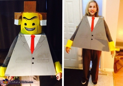 Lego Movie Family Homemade Costume