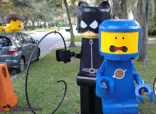 Catwoman and 80's Space Guy, Lego Movie Family Costume