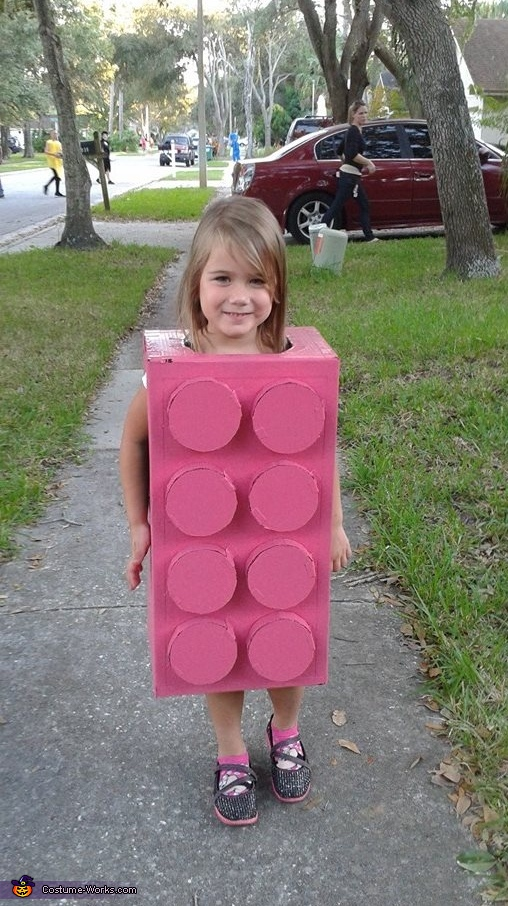 Pink Lego Block Princess, Lego Movie Family Costume