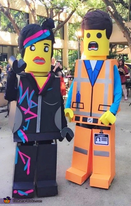 Lego Movie Wyldstyle and Emmet Couple Costume