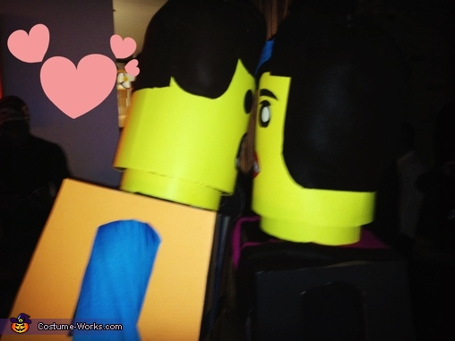 us kissing, Lego Movie Wyldstyle and Emmet Couple Costume